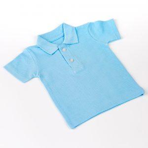 Baby Light Blue Polo T-Shirt (Non-Printable)