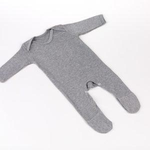 Baby Rompersuit in Ash Grey Marl (Printable)